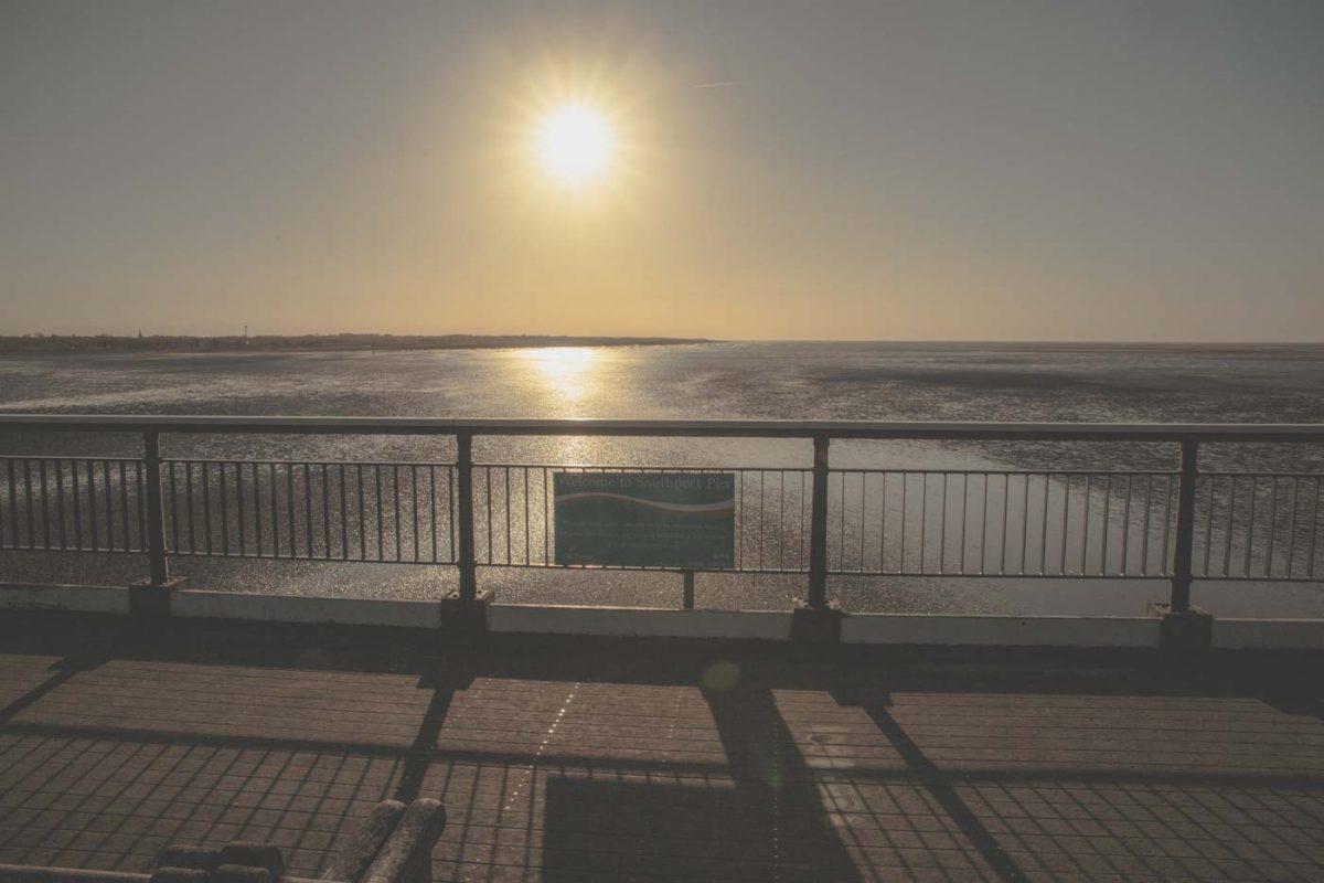 southport beach, sun, merseyside