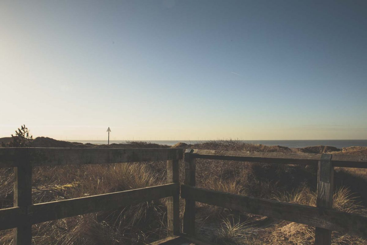 views from the lookout at formby, beach