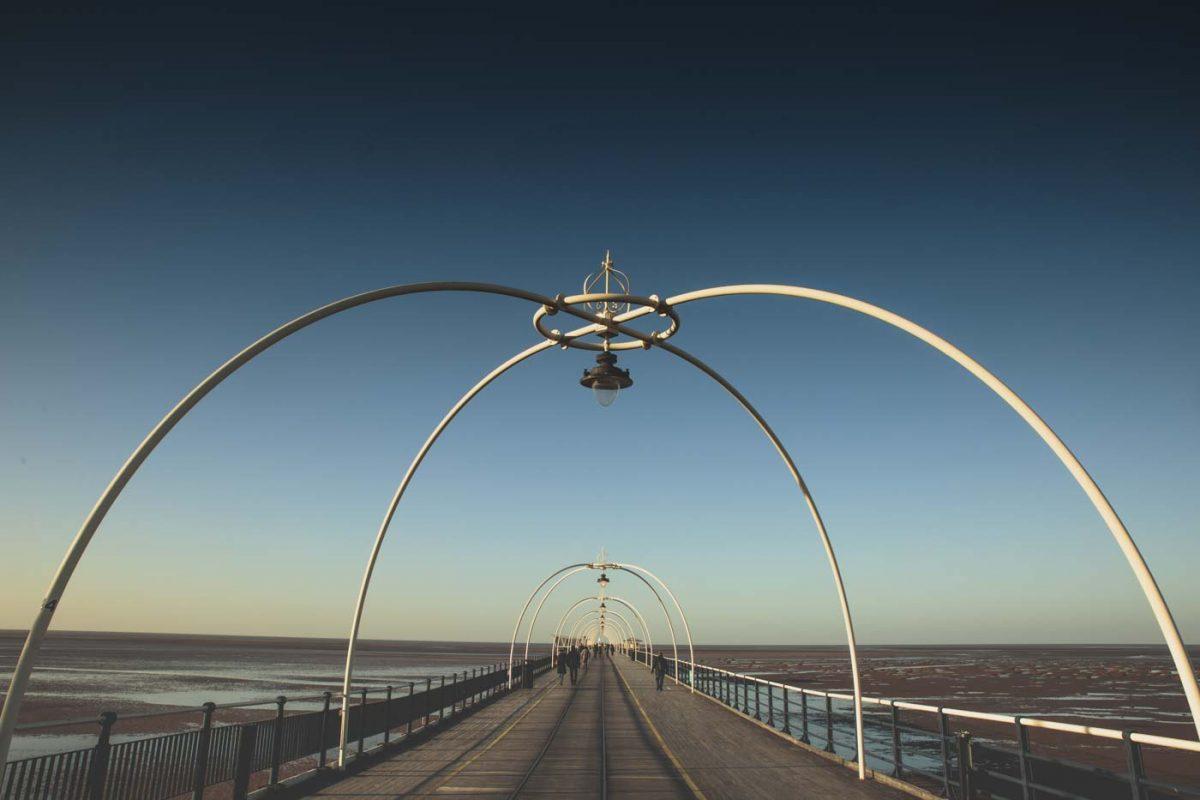 southport pier, tram lines