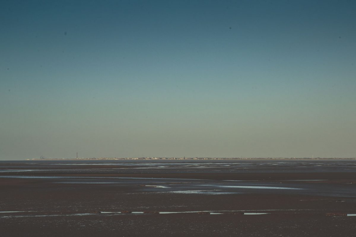 view of blackpool from southport, sand, sea