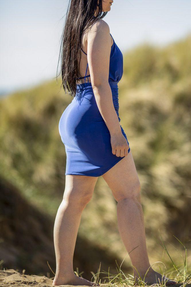 escort in preston, blue dress